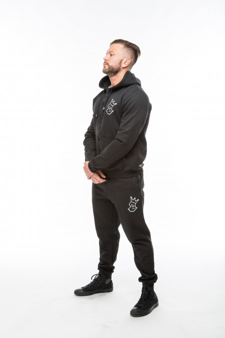 V2 Signature Hoodie & Tapered Bottoms  - Black