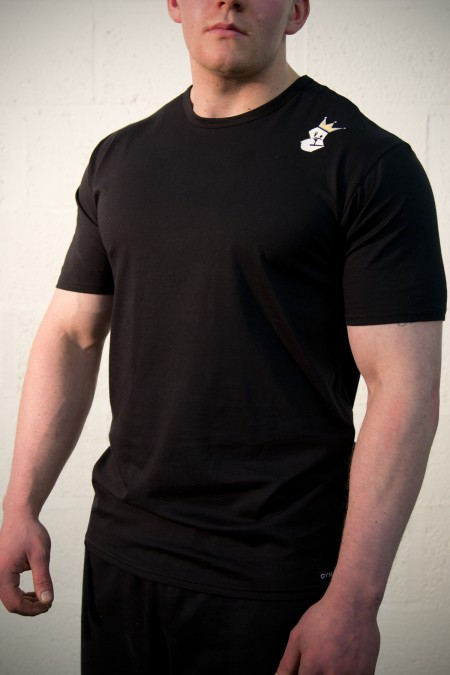 Casual T-Shirt - Black with Embroidery