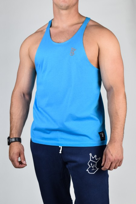 Prime Stringer - Azure with Orange Embroidery