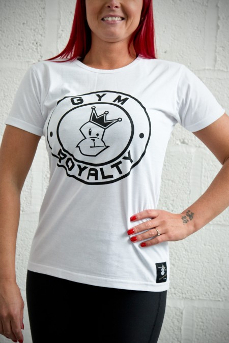 Ladies Loud and Proud T-Shirt - White with Black Print