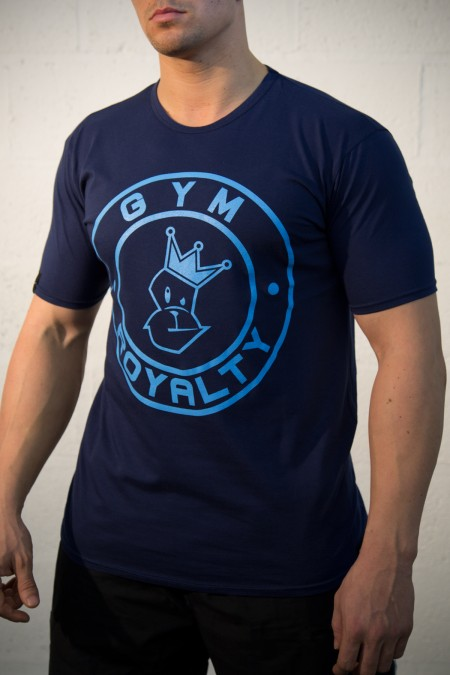 Loud and Proud T-Shirt - Navy with Blue Print