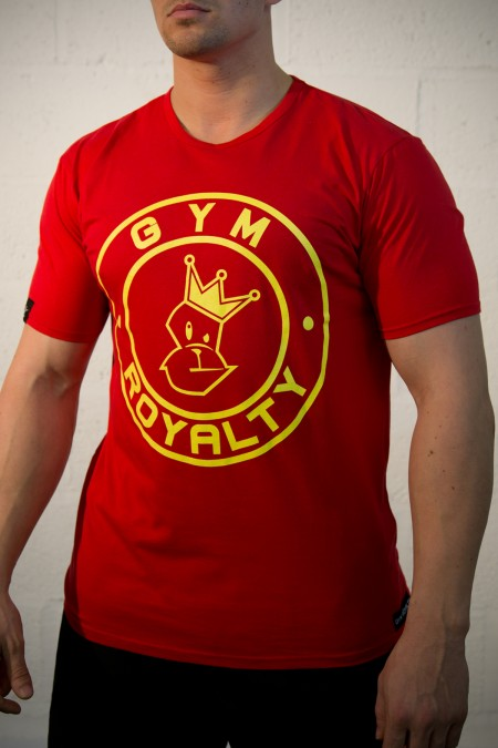 Loud and Proud T-Shirt - Red with Yellow Print