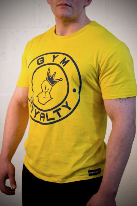 Loud and Proud T-Shirt - Yellow with Blue Print