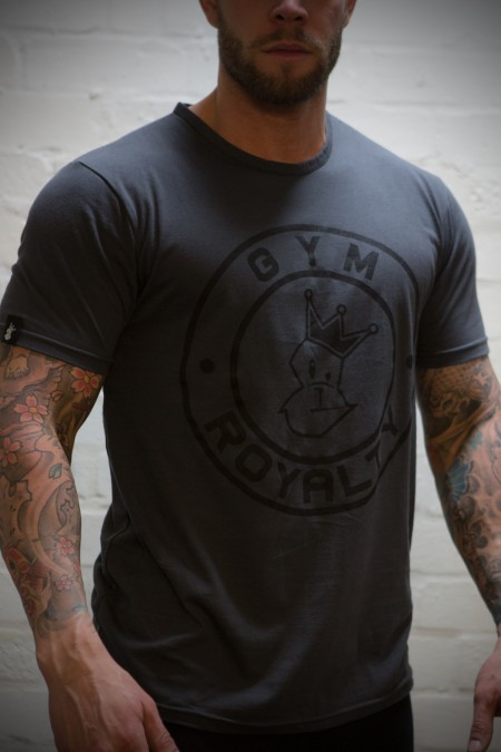 Loud and Proud T-Shirt - Charcoal with Black Print