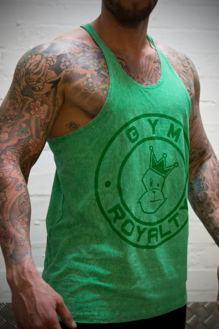 Phantom Stringer - Light Green Marble with Dark Green Print