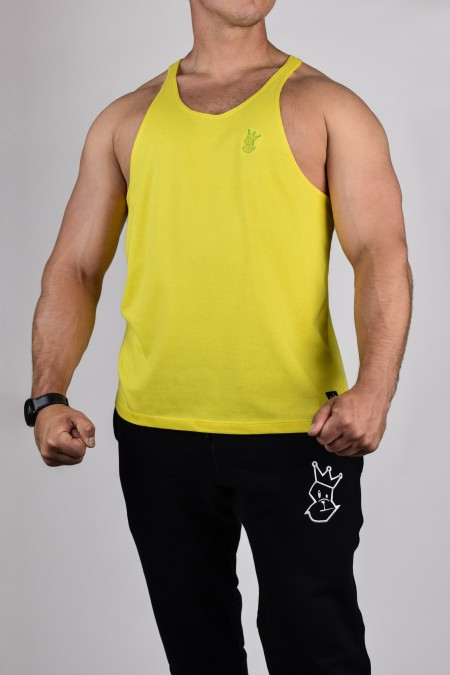 Prime Stringer - Yellow with Green Embroidery