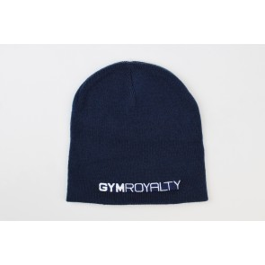 Velocity Beanie Hat - Navy with White Embroidery