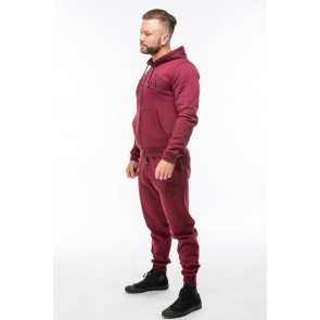 V2 Signature Hoodie & Tapered Bottoms  - Burgundy