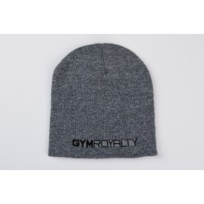 Velocity Beanie Hat - Grey Marl with Black Embroidery