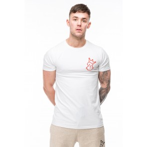 Crown & Glory T-Shirt - White with Red Print