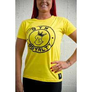 Ladies Loud and Proud T-Shirt - Yellow with Black Print