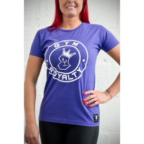 Ladies Loud and Proud T-Shirt - Purple with White Print