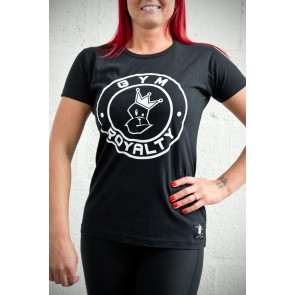 Ladies Loud and Proud T-Shirt - Black with White Print