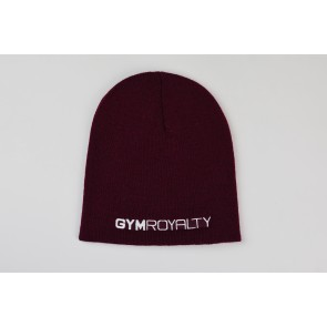Velocity Beanie Hat - Burgundy with White Embroidery