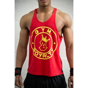 Loud & Proud Stringer - Red with Yellow Print